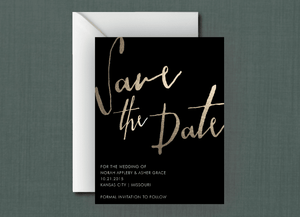 Minimalistic Gold Save the Date