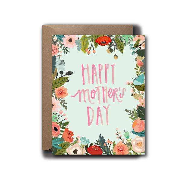 Floral Frame Mother's Day Seasonal Greeting Card | A2