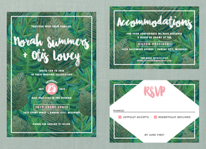 Whimsical Greenery Botanical Wedding Suite