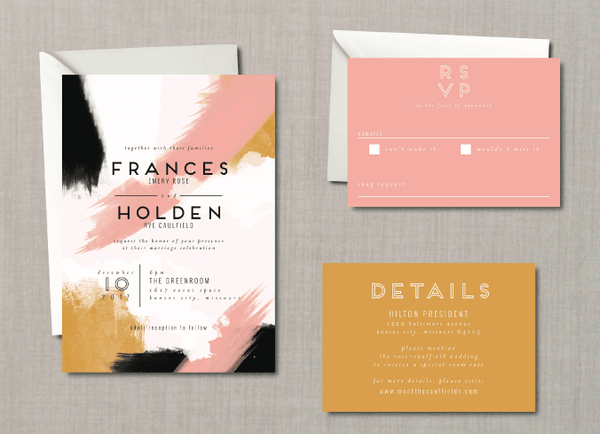 Whimsical Abstract Wedding Suite
