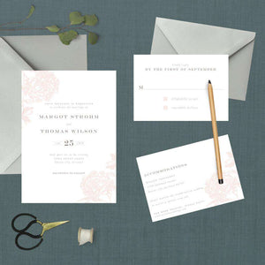 Vintage Blush Botanical Wedding Suite