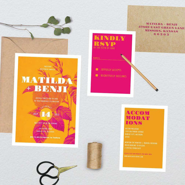 Pop Art Botanical Wedding Suite