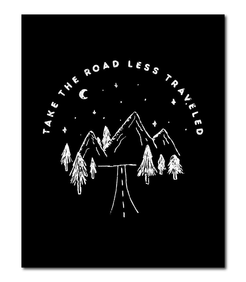 Road Less Traveled Wall Art Print