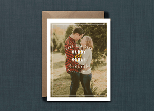 Rustic Oval Photo Save the Date