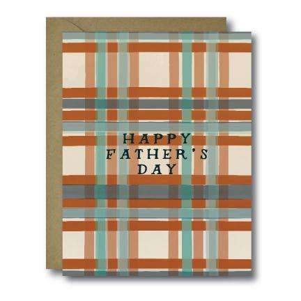 Vintage Plaid Happy Father's Day Seasonal Greeting Card | A2
