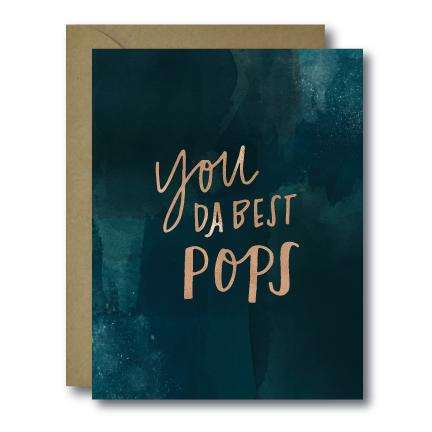 Whimsical You Da Best Pops Father's Day Seasonal Greeting Card | A2