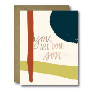 You Are Done Son Grad Seasonal Greeting Card | A2