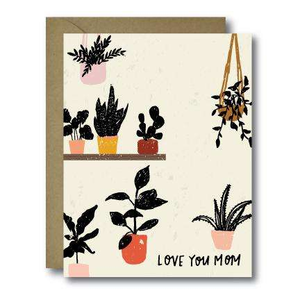 Whimsical Plant Lady Mother's Day Seasonal Greeting Card | A2