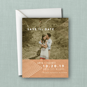 Whimsical Geometric Boho Photo Save the Date
