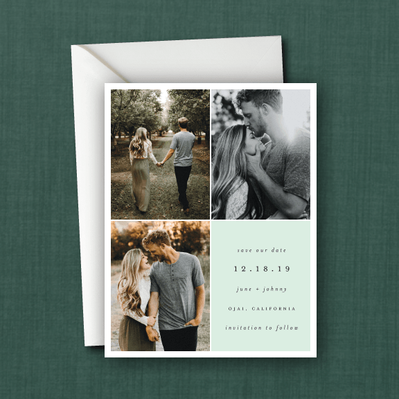 Modern Quadrant Photo Save the Date