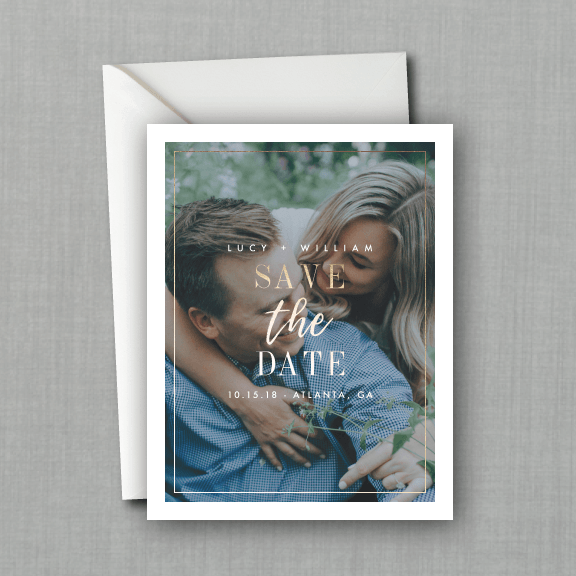 Whimsical Modern Script Photo Save the Date