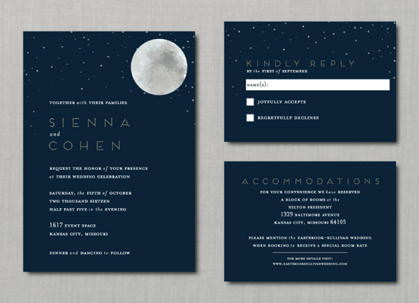 Starry Night Moon Wedding Suite