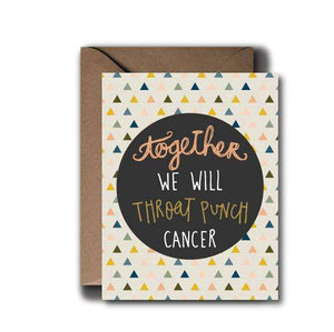 Throat Punch Cancer Encouragement Greeting Card | A2