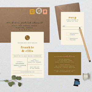 Minimalist Typewriter Wedding Suite