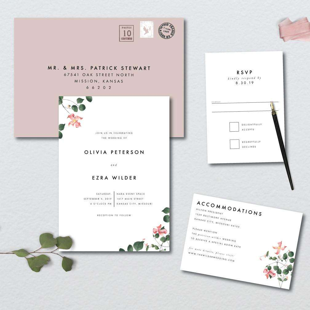 Delicate Botanical Wedding Suite