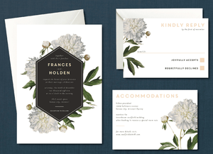 Vintage White Floral Wedding Suite