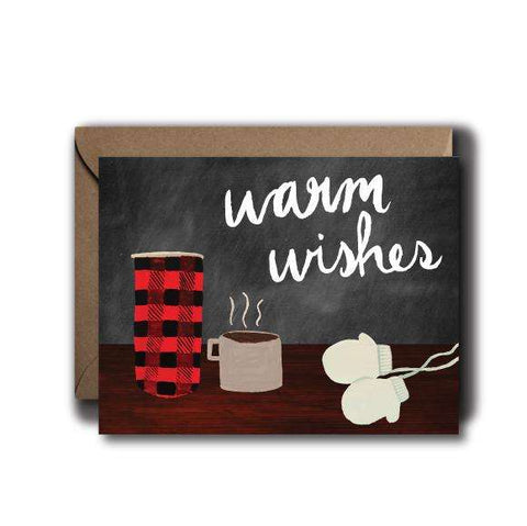 Warm Wishes Christmas Seasonal Greeting Card | A2