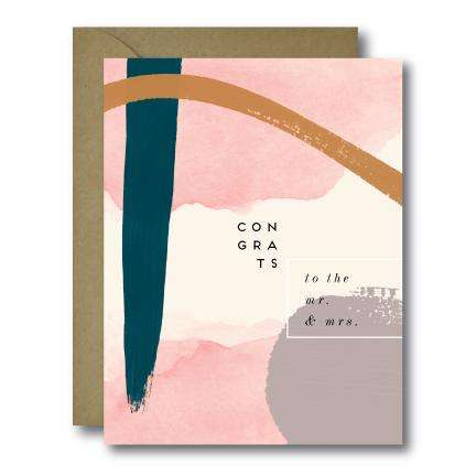Whimsical To The Mr. & Mrs. Congrats Wedding Greeting Card | A2