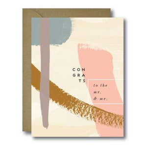Whimsical To The Mr. & Mr. Congrats Wedding Greeting Card | A2