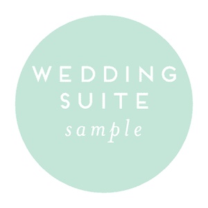 Sample Wedding Suite | Available for All Wedding Suites
