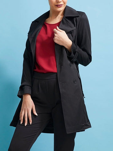 Essential Black Trench Coat