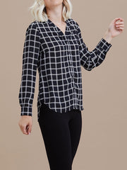 Black & White Windsor Blouse