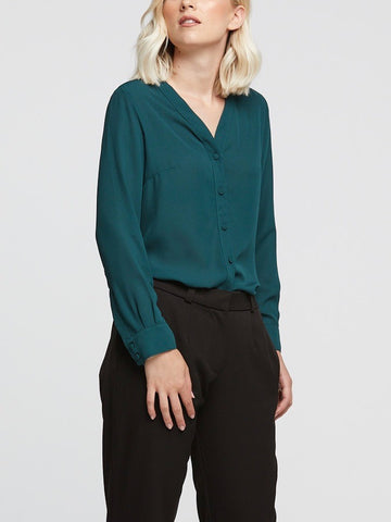 Windsor Blouse Forest Green - FINAL SALE
