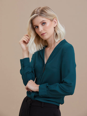 Windsor Blouse Forest Green