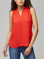Sleeveless Gathered Blouse
