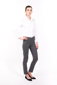 Smoky Grey Cigarette Leg Pants