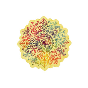 Sticker de madera - Mandala Color