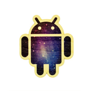 Sticker de madera - Android Galaxy