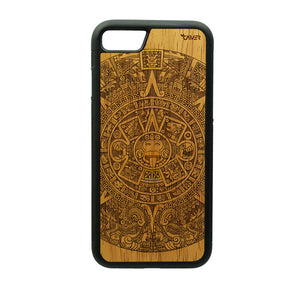 Carcasa Madera para iPhone 8 - Calendario Azteca