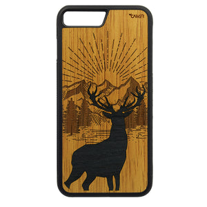 Carcasa Madera para iPhone 8 Plus - Ciervo