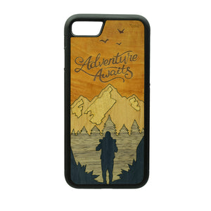 Carcasa Madera para iPhone 8 - Adventure