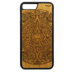 Carcasa Madera para iPhone 8 Plus - Calendario Azteca