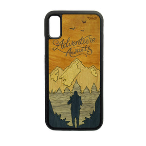 Carcasa Madera para iPhone X / XS - Adventure