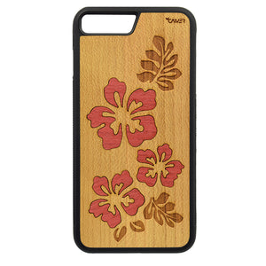Carcasa Madera para iPhone 8 Plus - Hibiscus