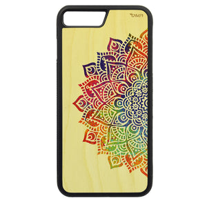 Carcasa Madera para iPhone 7 Plus - Mandala Color