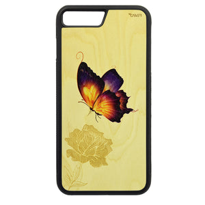 Carcasa Madera para iPhone 7 Plus - Mariposa