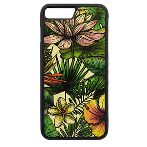 Carcasa Madera para iPhone 8 Plus - Flores