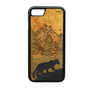 Carcasa Madera para iPhone 7 - Puma Chileno