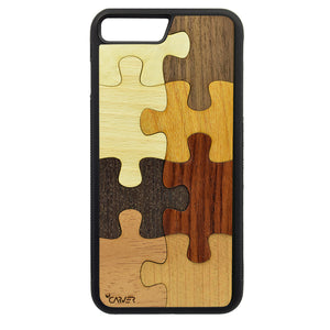 Carcasa Madera para iPhone 8 Plus - Puzzle