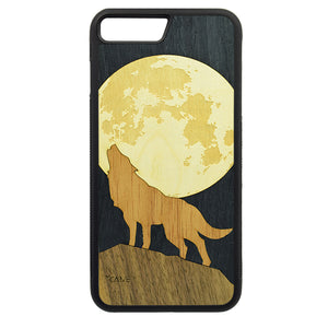 Carcasa Madera para iPhone 8 Plus - Lobo