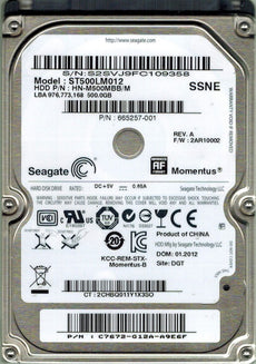 Compaq Presario CQ40-101AX Hard Drive 500GB Upgrade