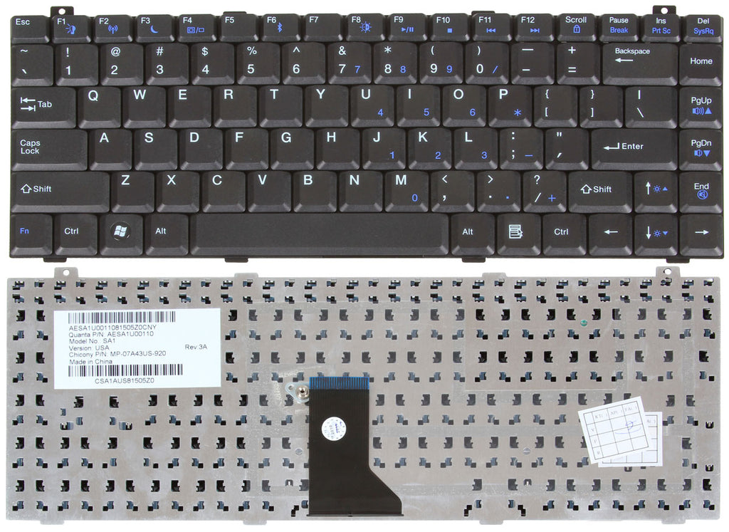 Gateway M-6801MT Keyboard
