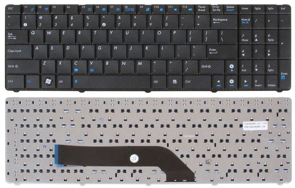 Asus K70AC Series Keyboard