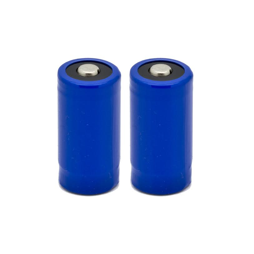 2 pcs Gulfe RCR123A 900mAh Rechargeable Li-Ion Battery 123A900 2 Pack - NEW