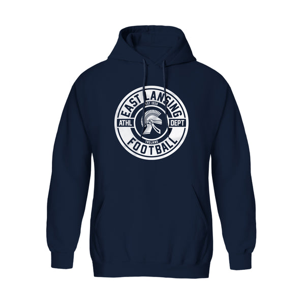 East Lansing Trojans Football Hoodie (Trojan Seal)