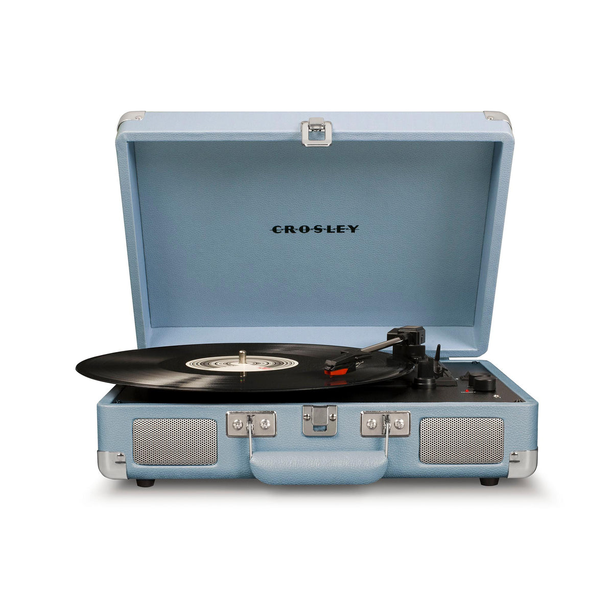 Crosley Cruiser Deluxe Vintage 3-Speed Bluetooth Suitcase Turntable Fawn